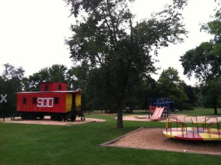 Lake Villa's Sled Hill at Caboose Park