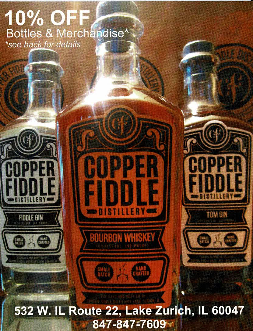 10% off Bottles and Merchandise at Copper Fiddle Distillery