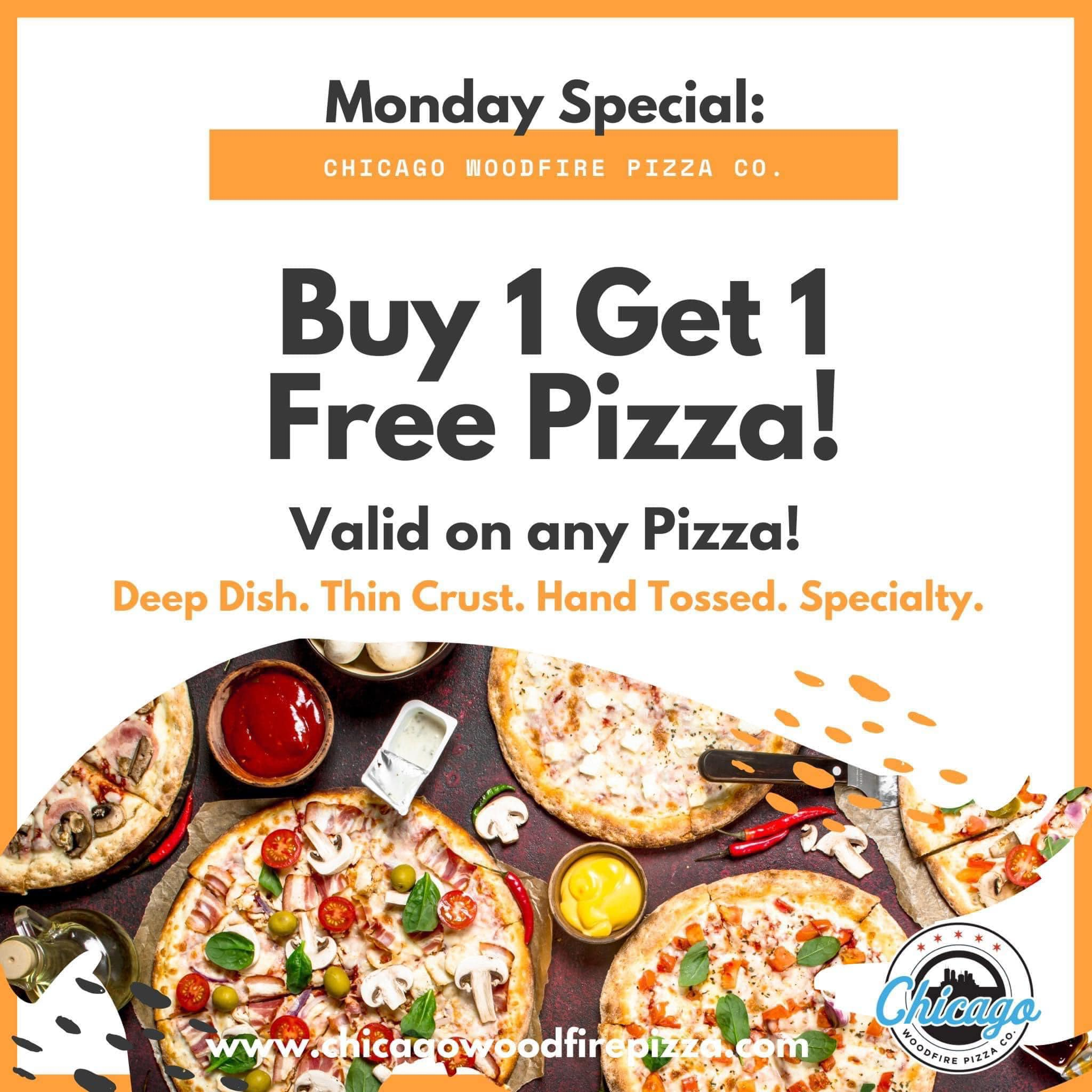 Monday's Buy 1 Get 1 Pizza