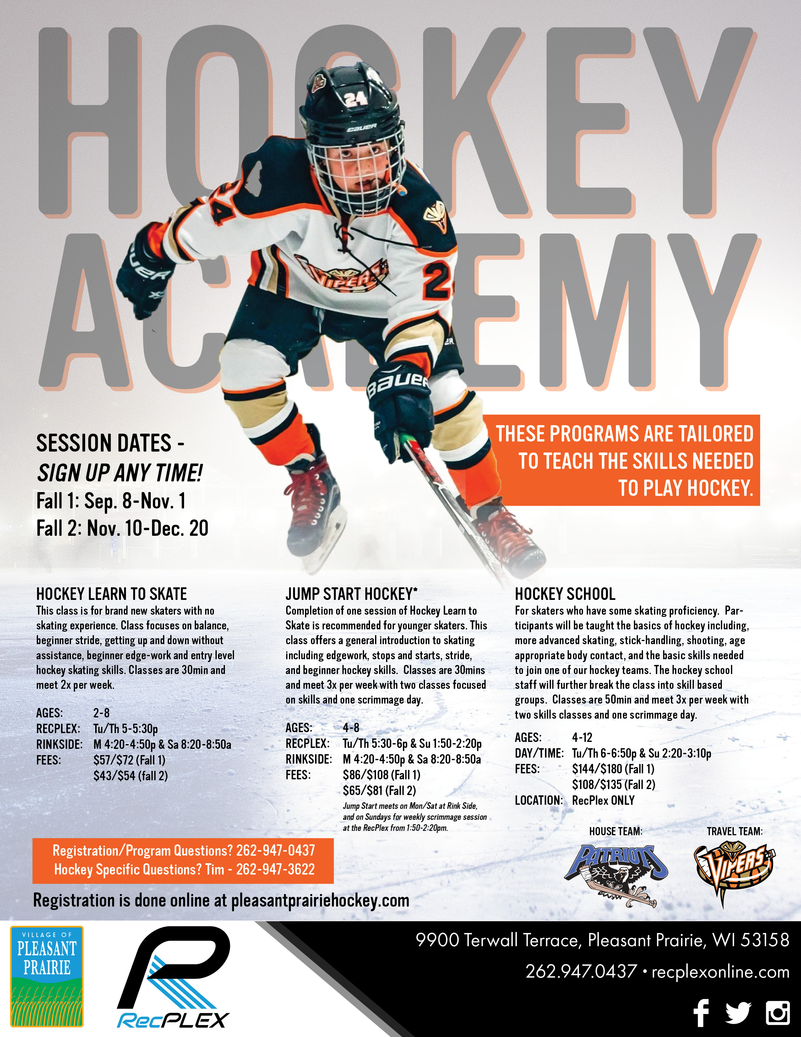 Rink SIde - Learn to Play Hockey