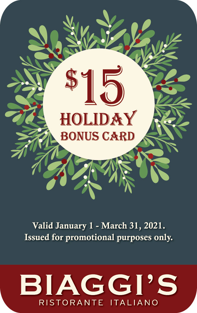 Biaggi's - Gift Card Special