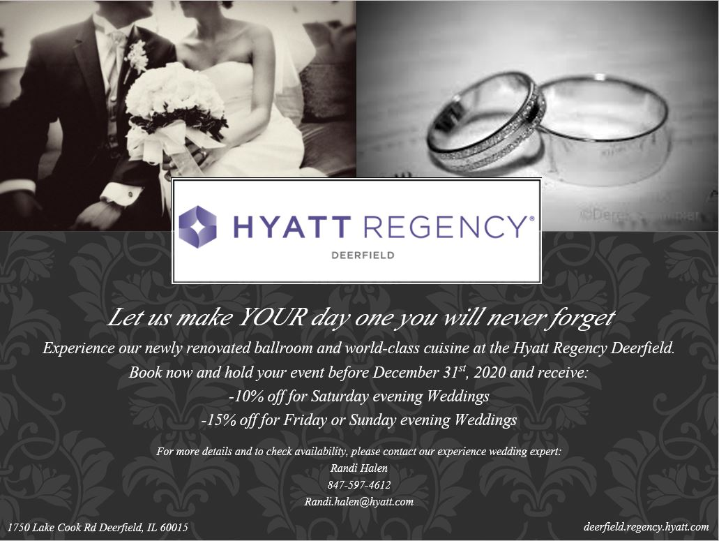 Hyatt Regency Deerfield Wedding Offer