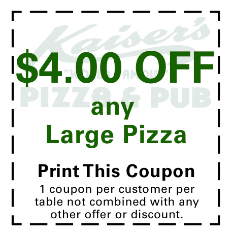 $4.00 off any Large Pizza