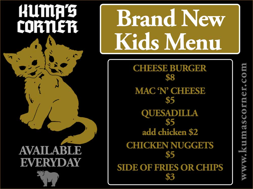 Kuma - New Kids Menu