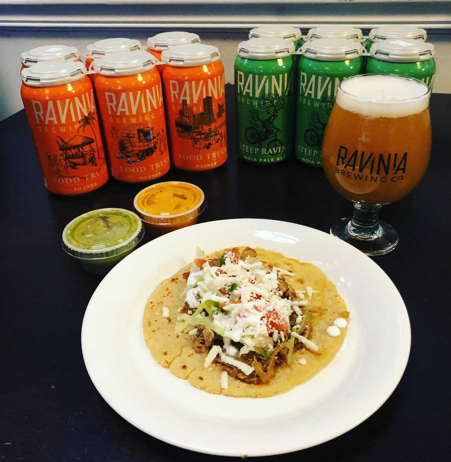 Ravinia Brewing - TACOS AND BEER