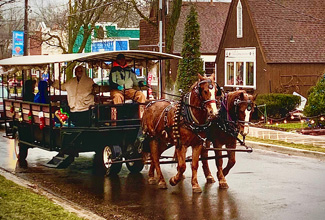 Historic Downtown Long Grove - Sleigh Rides