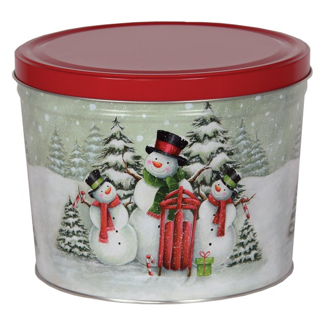 Order Holiday Popcorn Tins from the Catlow