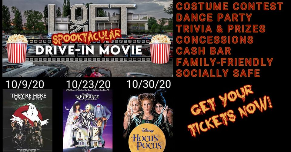 Spooktacular October Drive-in Movies at Loft 21 Events - Hocus Pocus