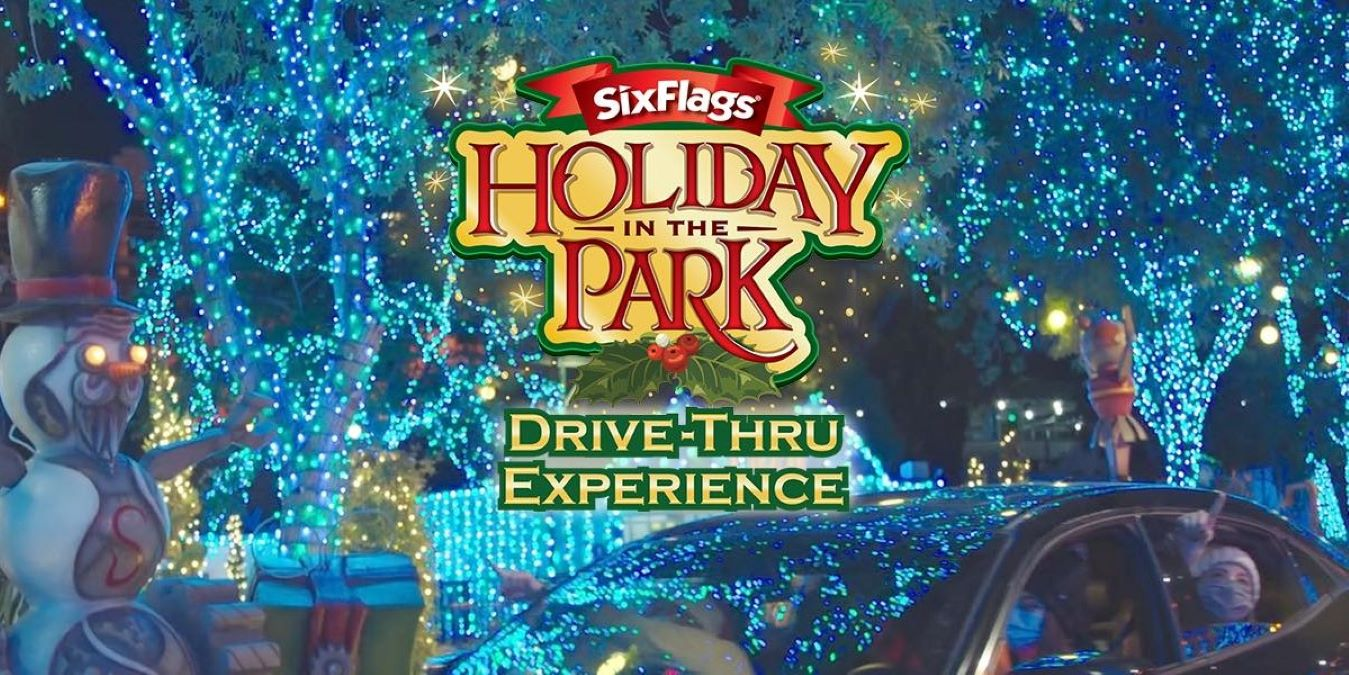 Six Flags Holiday in the Park Lights Drive Thru