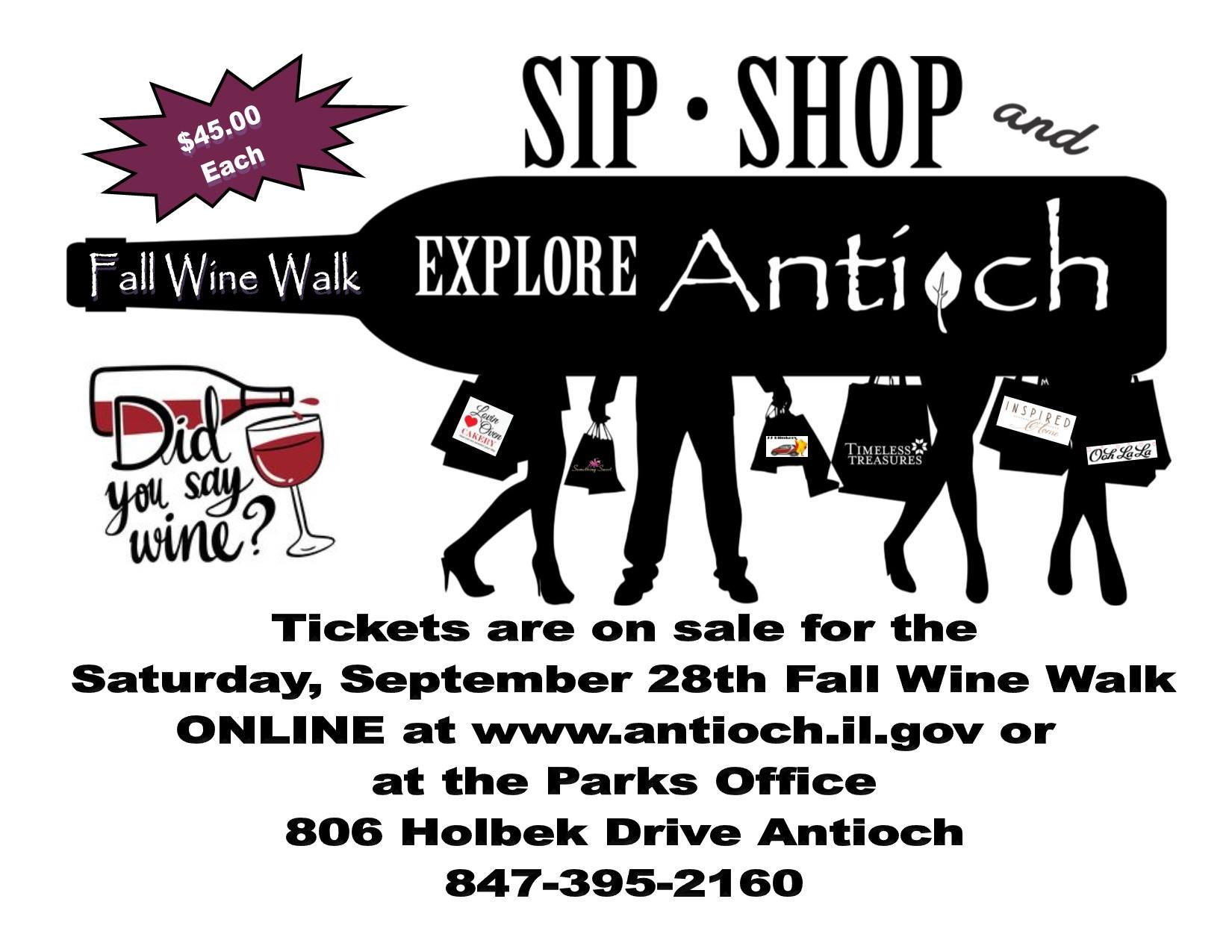 Village of Antioch Fall Wine Walk