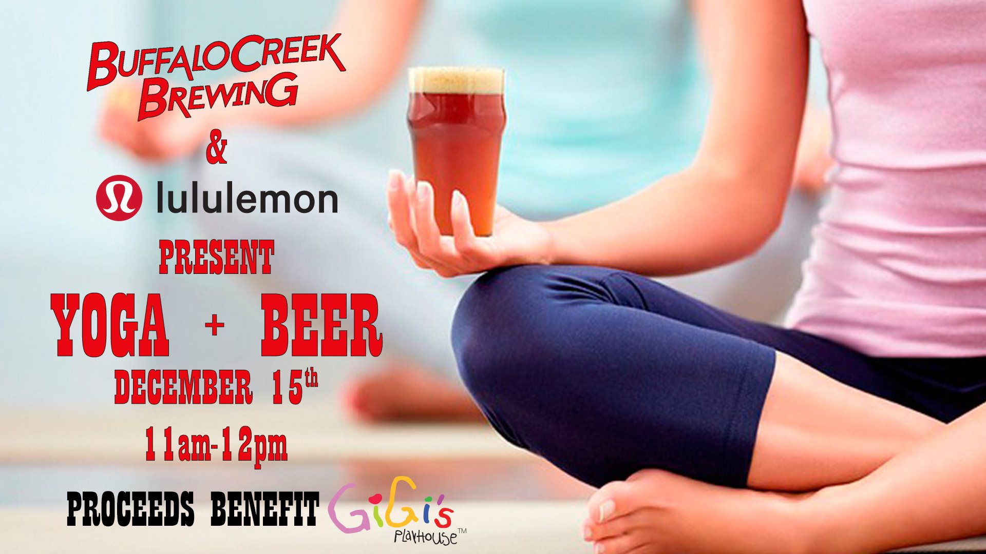 Yoga & Beer at Buffalo Creek Brewing