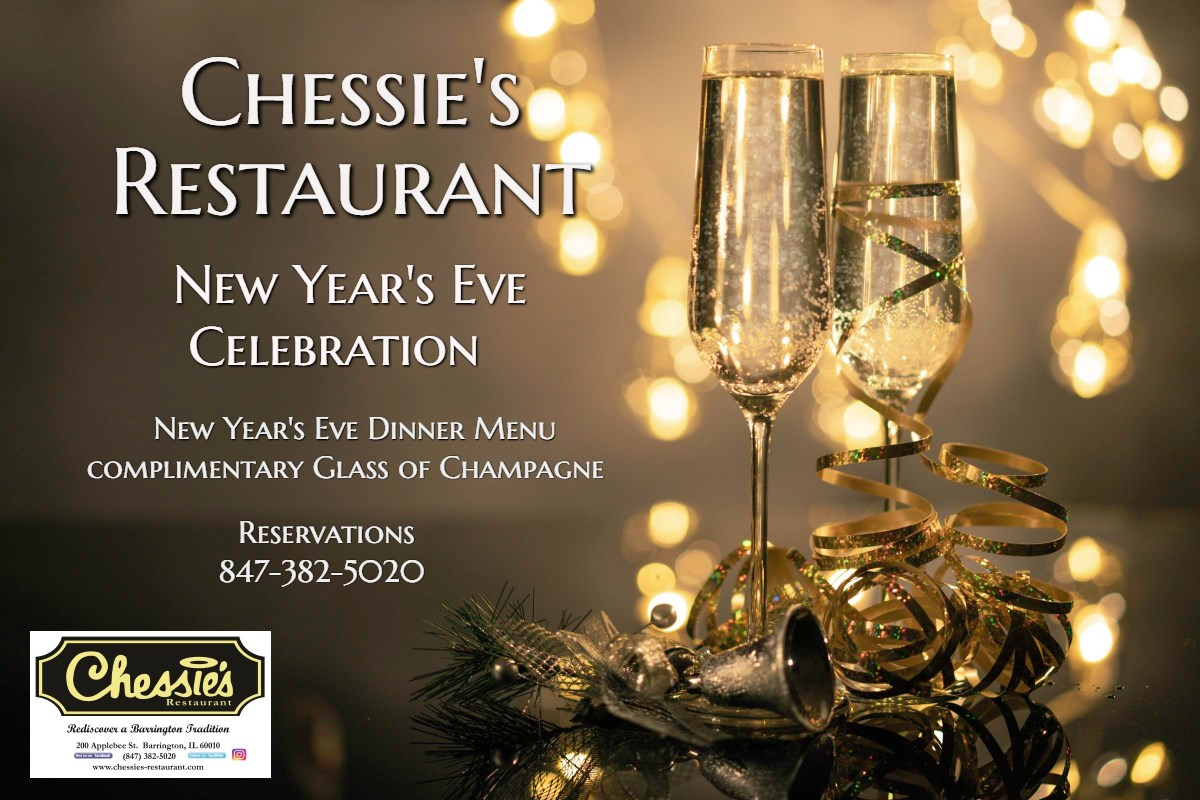 New Year's Eve Celebration Dinner at Chessie's Restaurant