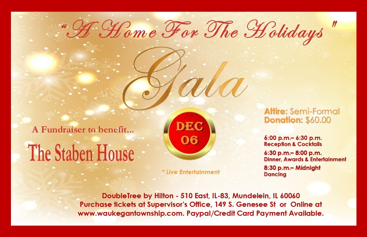 Staben House A Home For The Holidays Gala at DoubleTree by Hilton Libertyville-Mundelein