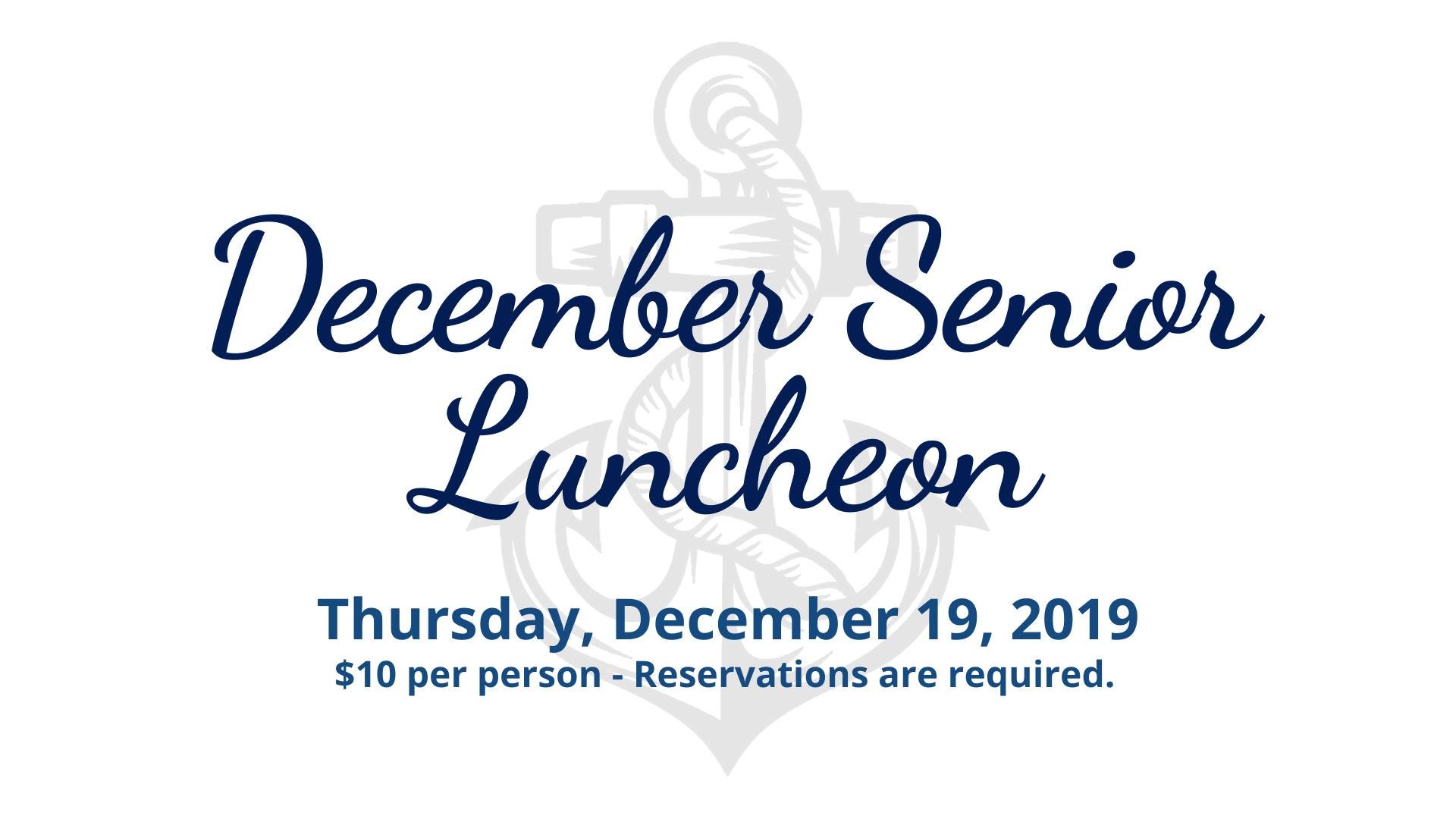 December Senior Luncheon in Fox Lake