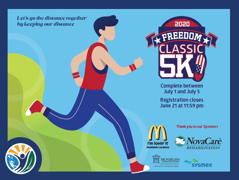 41st Annual Freedom Classic 5K in Mundelein - Virtual