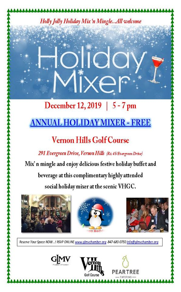 GLMV Chamber Annual Holiday Mixer at Vernon Hills Golf Course