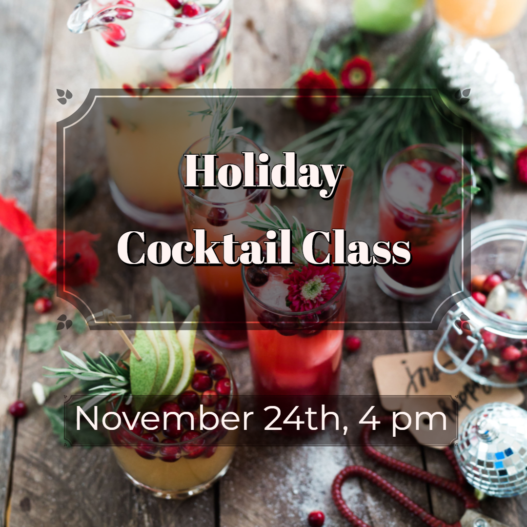 Holiday Cocktail Class at North Shore Distillery