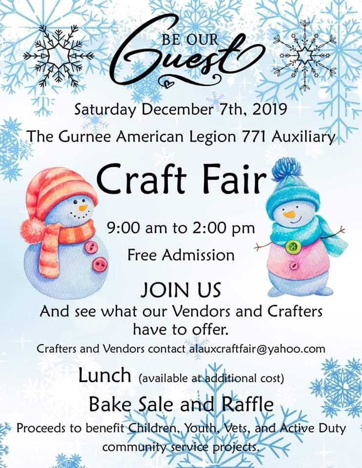 Craft Fair By Auxiliary Of Gurnee American Legion Post 771