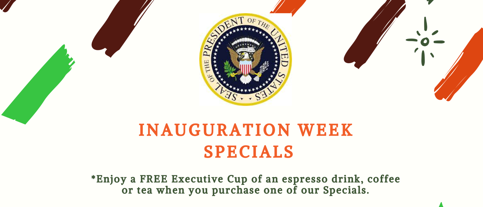 Inauguration Week Specials from Curt's Cafe'