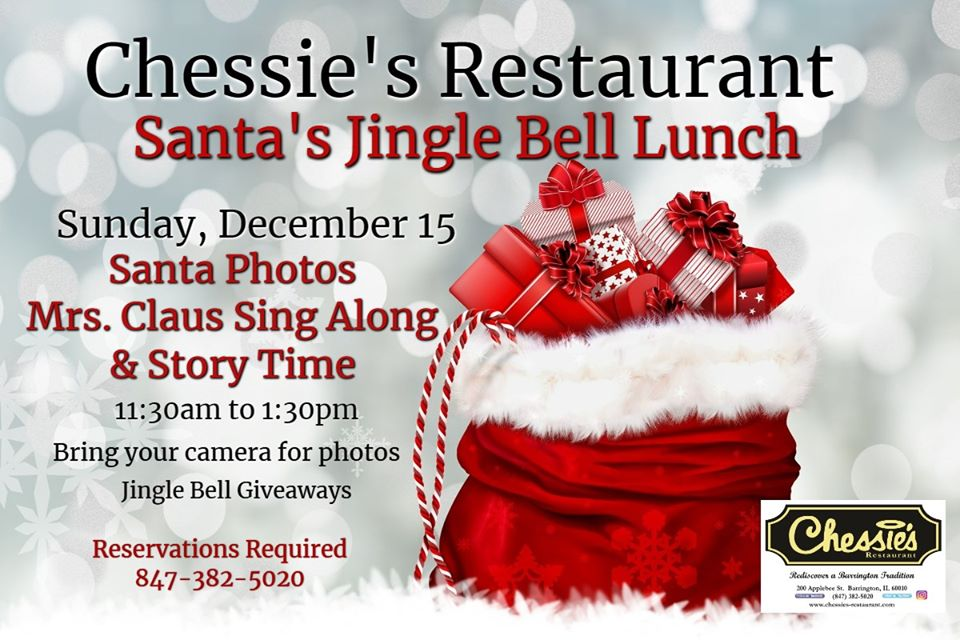 Jingle Bell Lunch with Santa at Chessie's Restaurant
