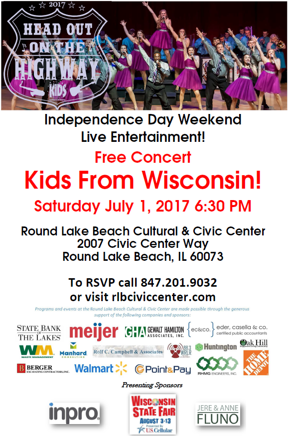 Kids from Wisconsin - Free Independence Day Weekend Concert