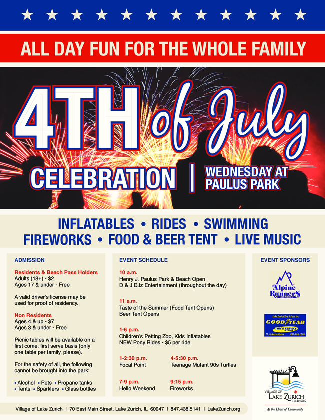 July 4th Celebration in Lake Zurich
