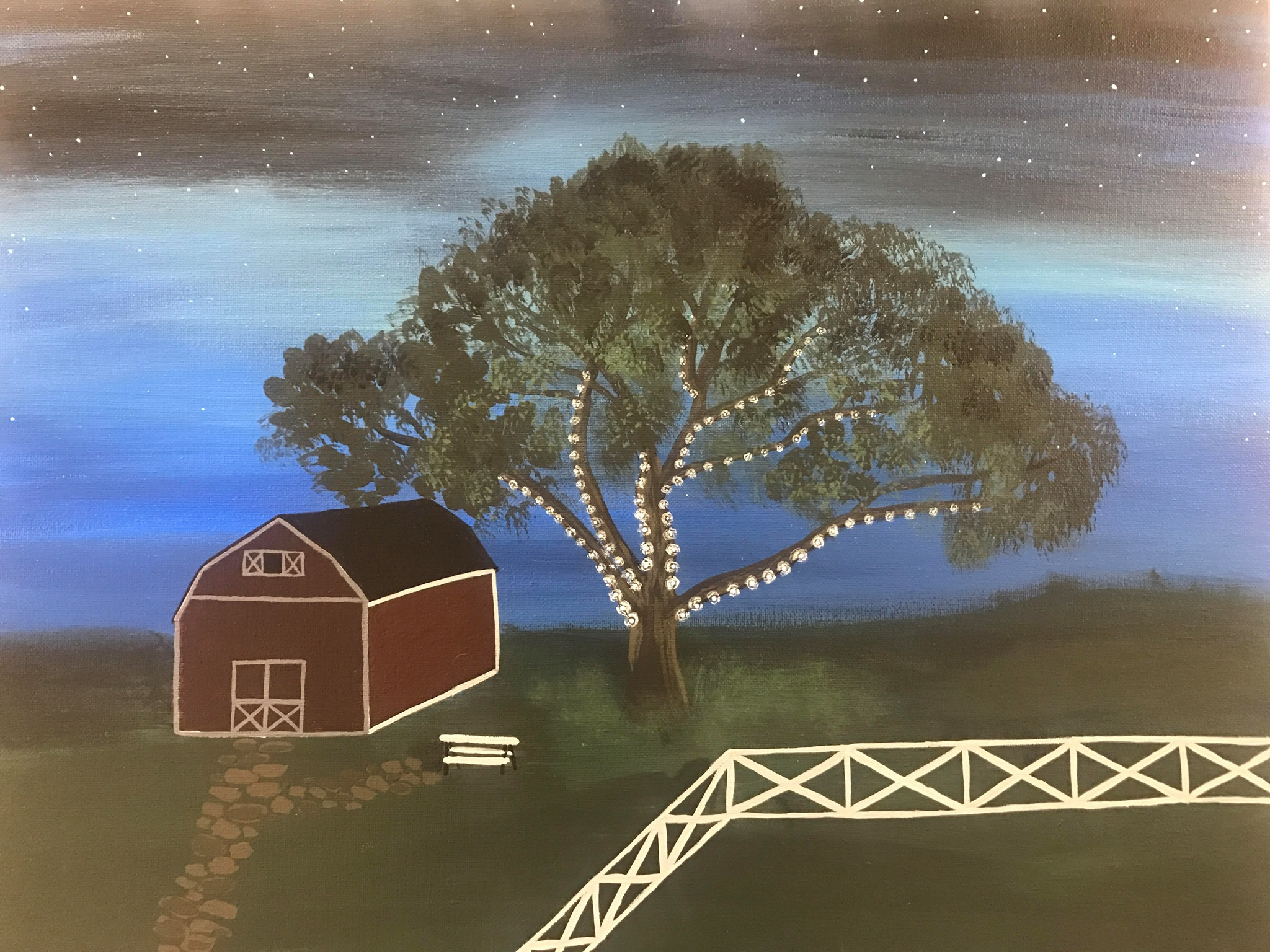 Farmyard Wine & Paint Night at Lambs Farm