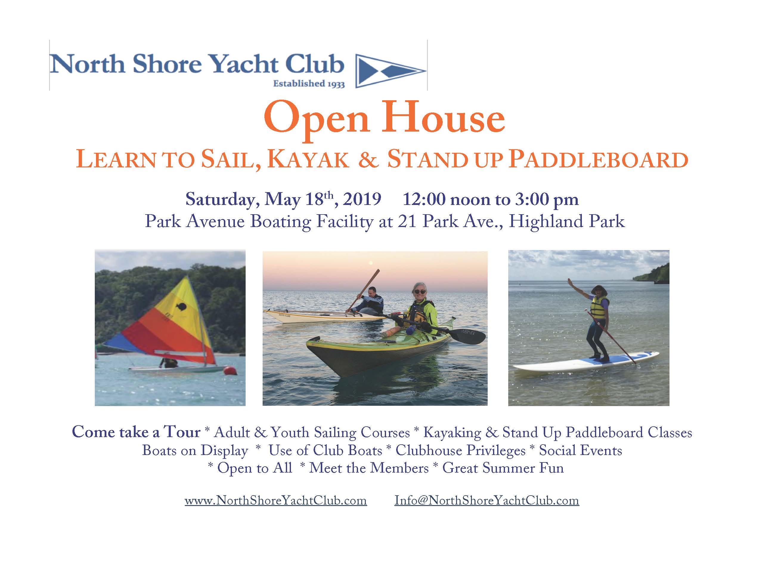 North Shore Yacht Club Open House