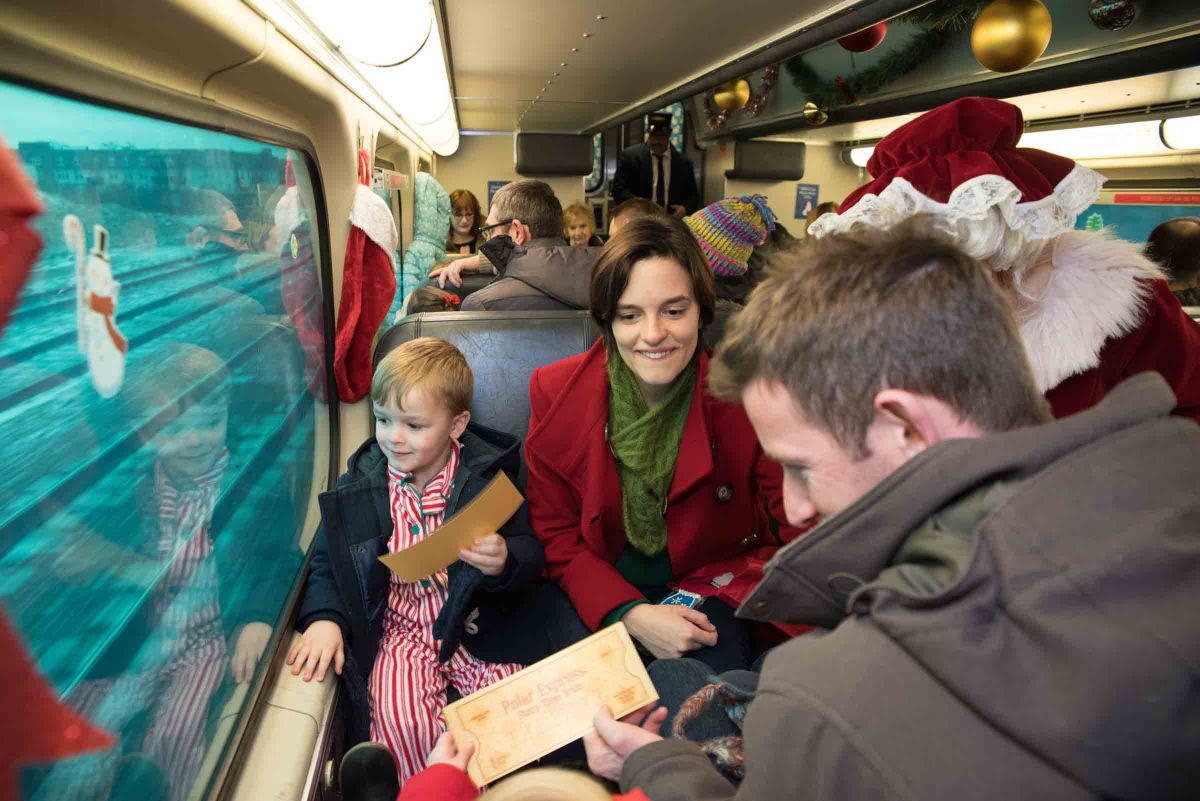 The Polar Express Story Time Train in Highland Park