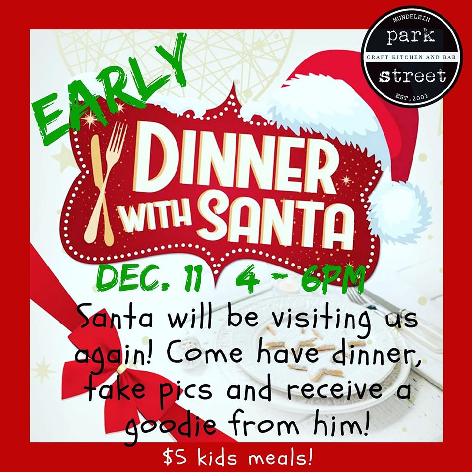 Early dinner with Santa at Park Street Restaurant