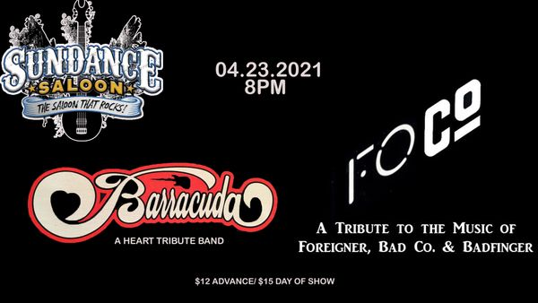 BARRACUDA - HEART TRIBUTE & FOCO - FOREIGNER, BAD COMPANY, BAD FINGER