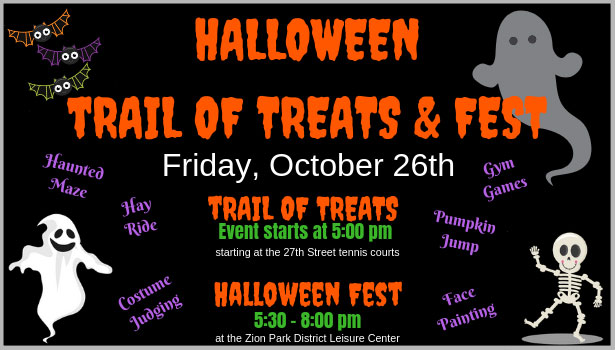Trail of Treats & Halloween Fest at Zion Park District