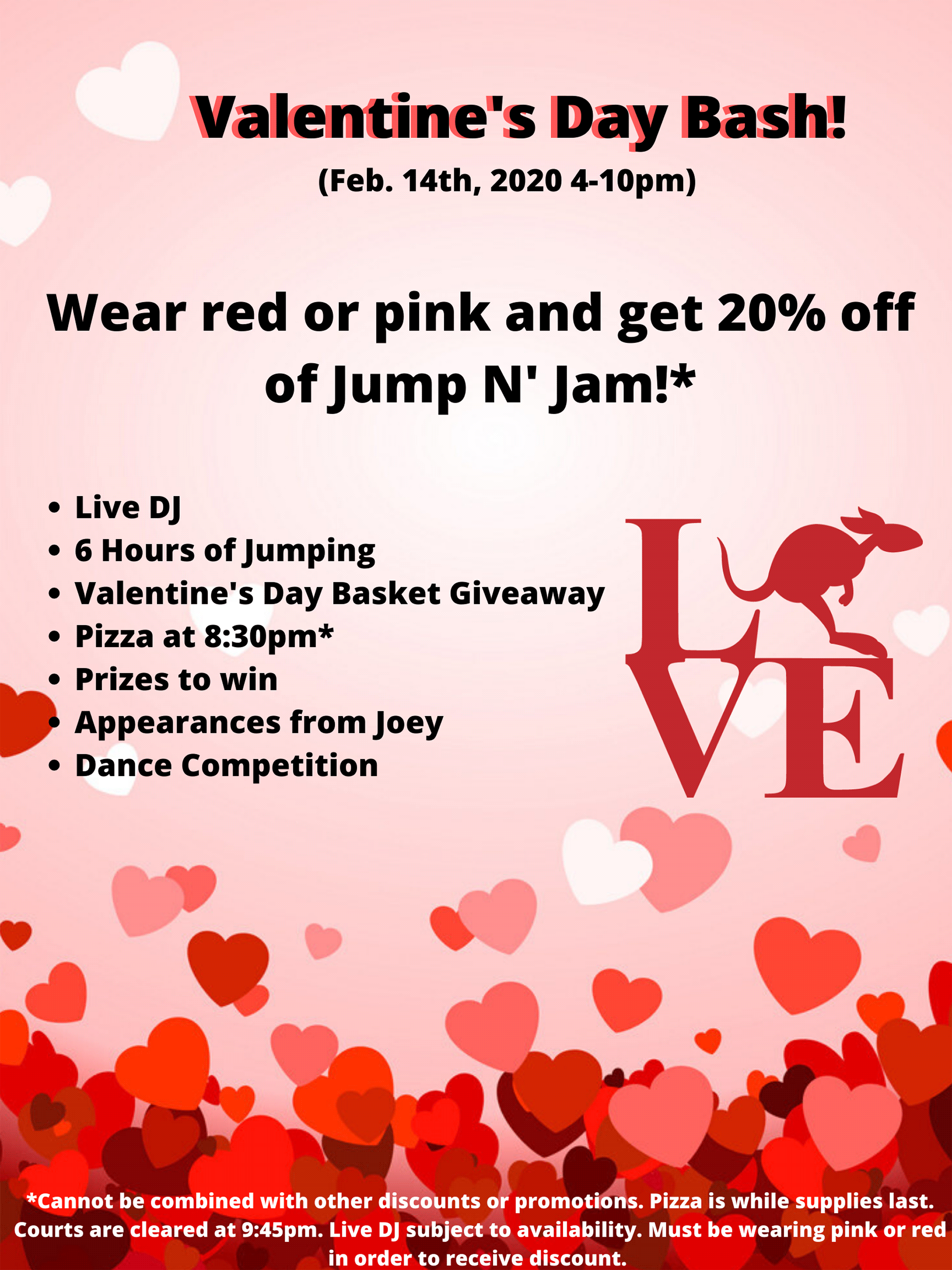 Valentine's Day Bash at Launch Trampoline Park