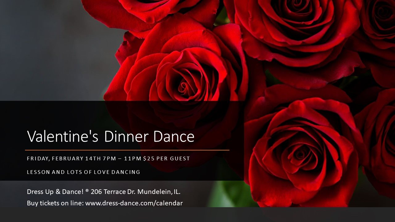 Valentine's Day Dinner Dance at Dress Up and Dance