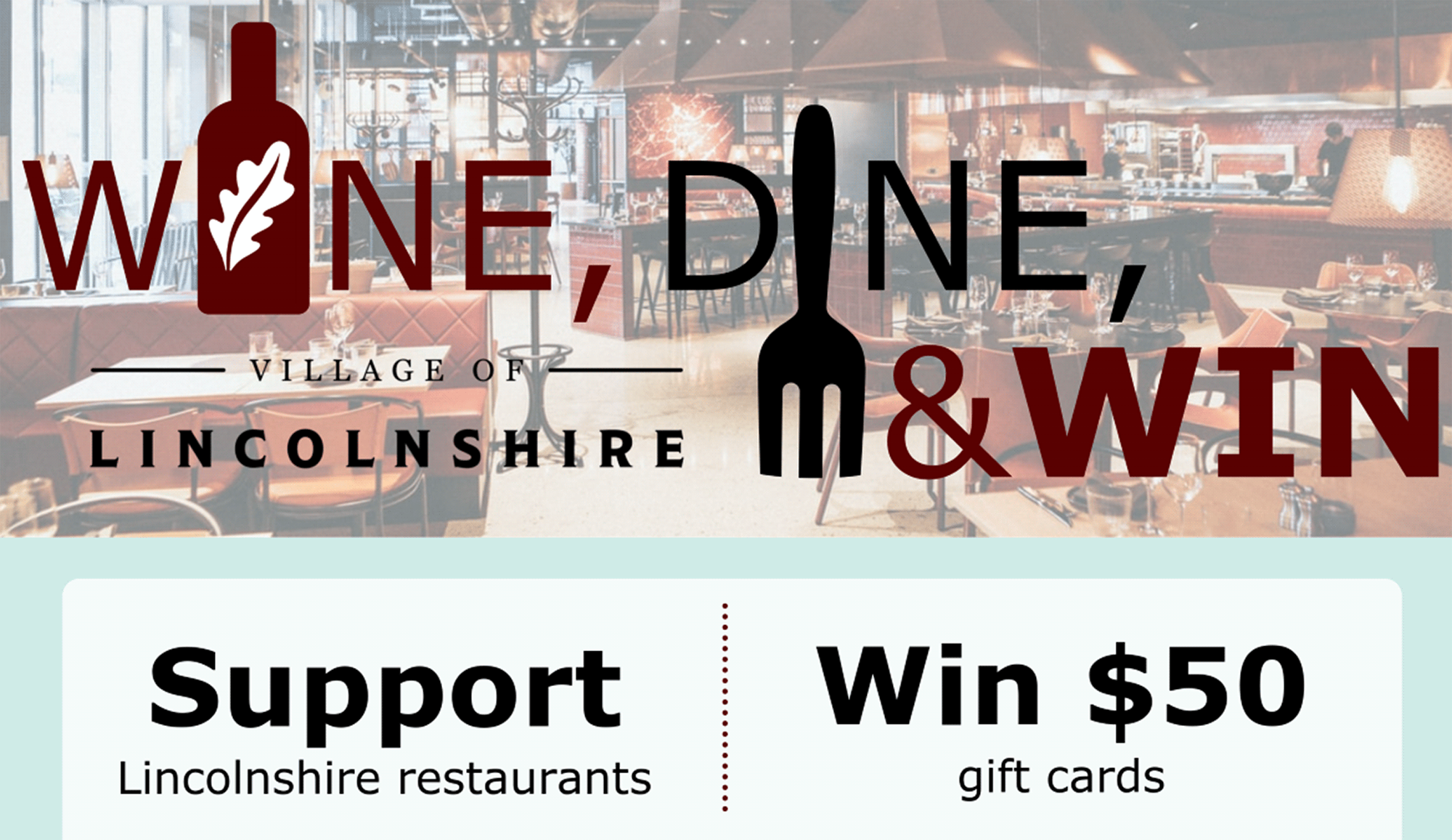 Wine, Dine and Win with The Village of Lincolnshire