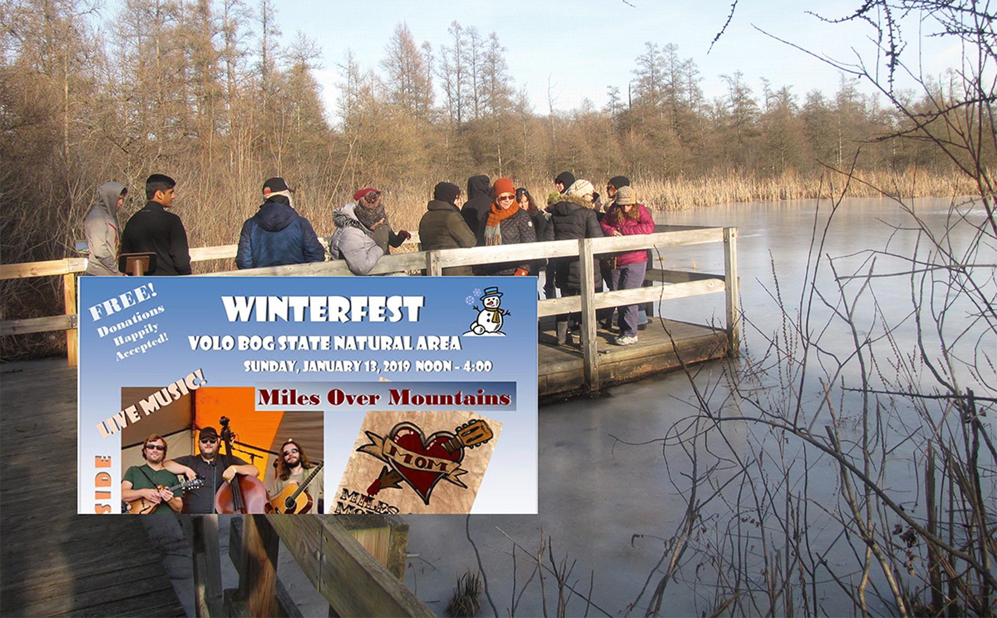 Lake County, Illinois, CVB - - Free Winterfest at Volo Bog