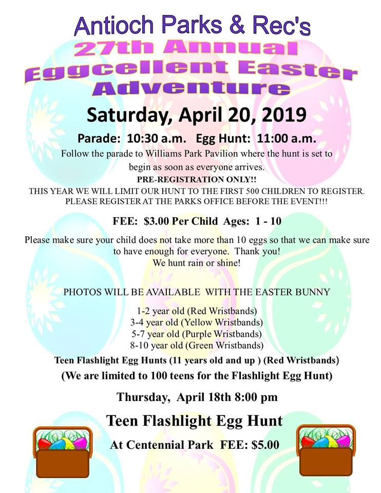Antioch's Annual Easter Parade and Egg Hunt
