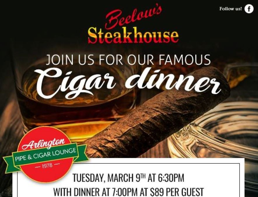 Cigar Dinner at Beelow's Steakhouse