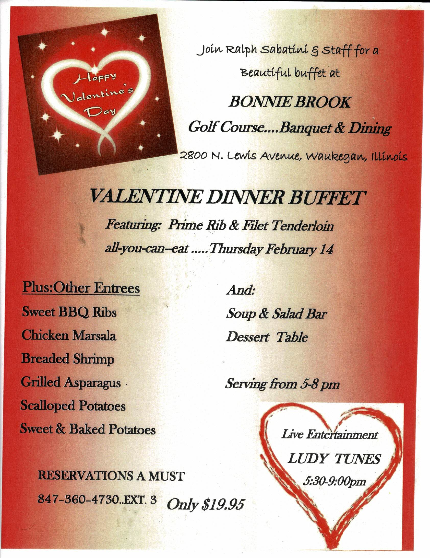 Valentine Dinner Buffet