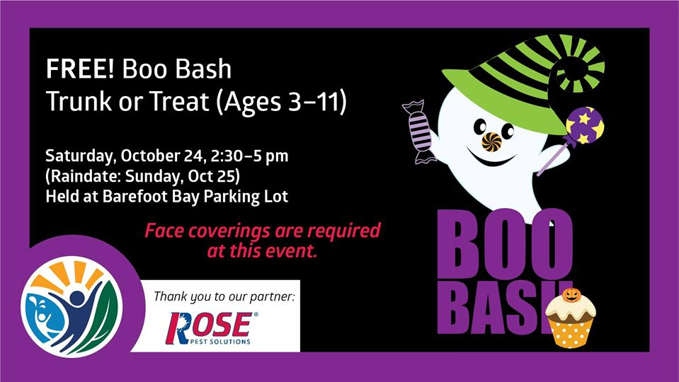 Boo Bash Trunk or Treat at Barefoot Bay Aquatic Center