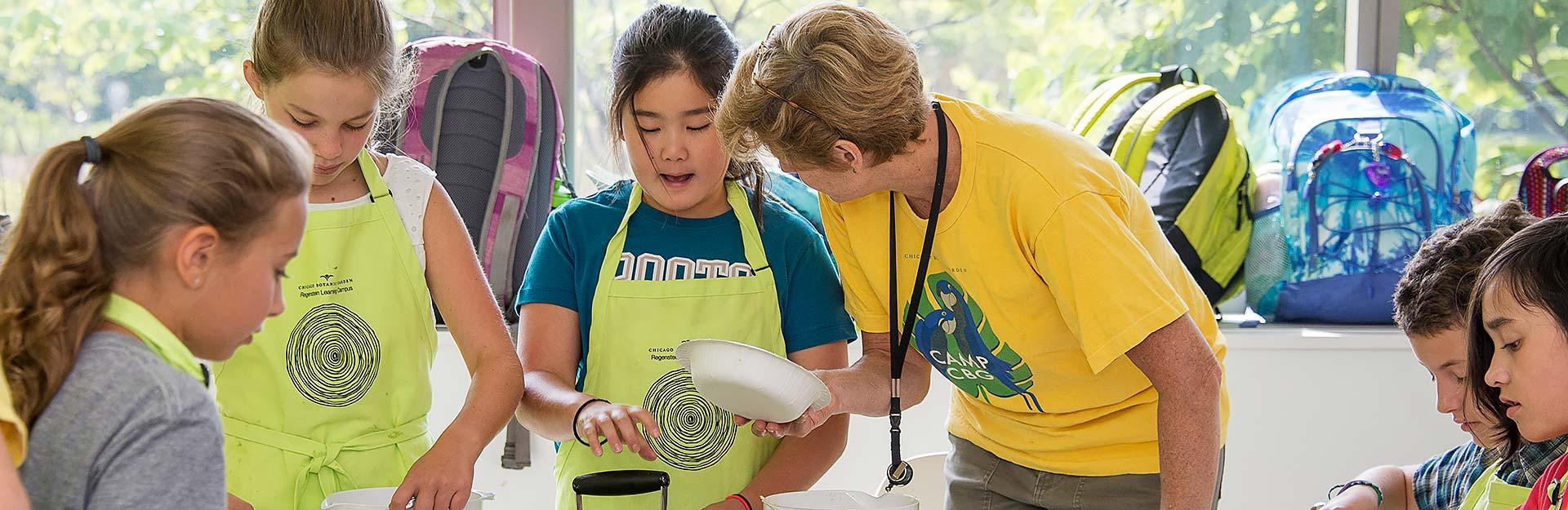 August Adventure Camp at Chicago Botanic Garden
