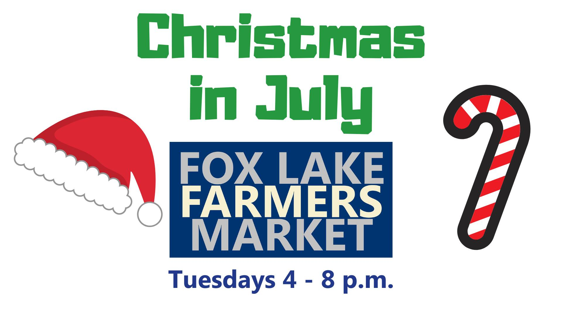 Christmas in July at the Fox Lake Farmers Market