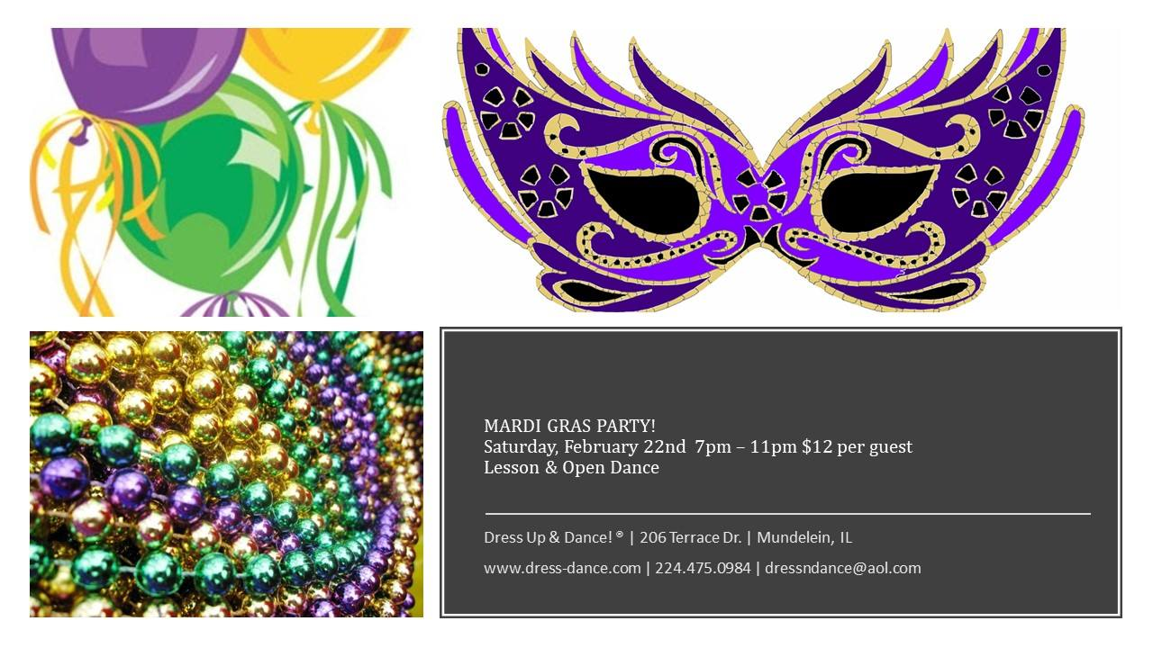 Mardis Gras Party at Dress Up & Dance