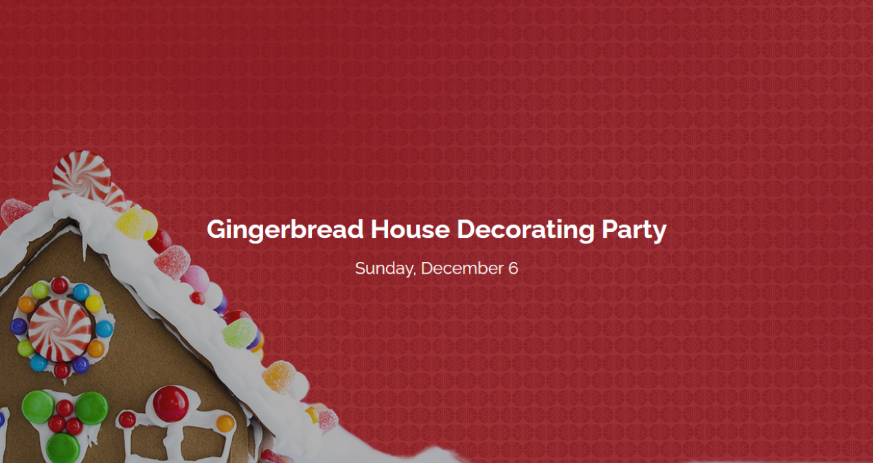 Gingerbread House Decorating Party at Gorton Community Center