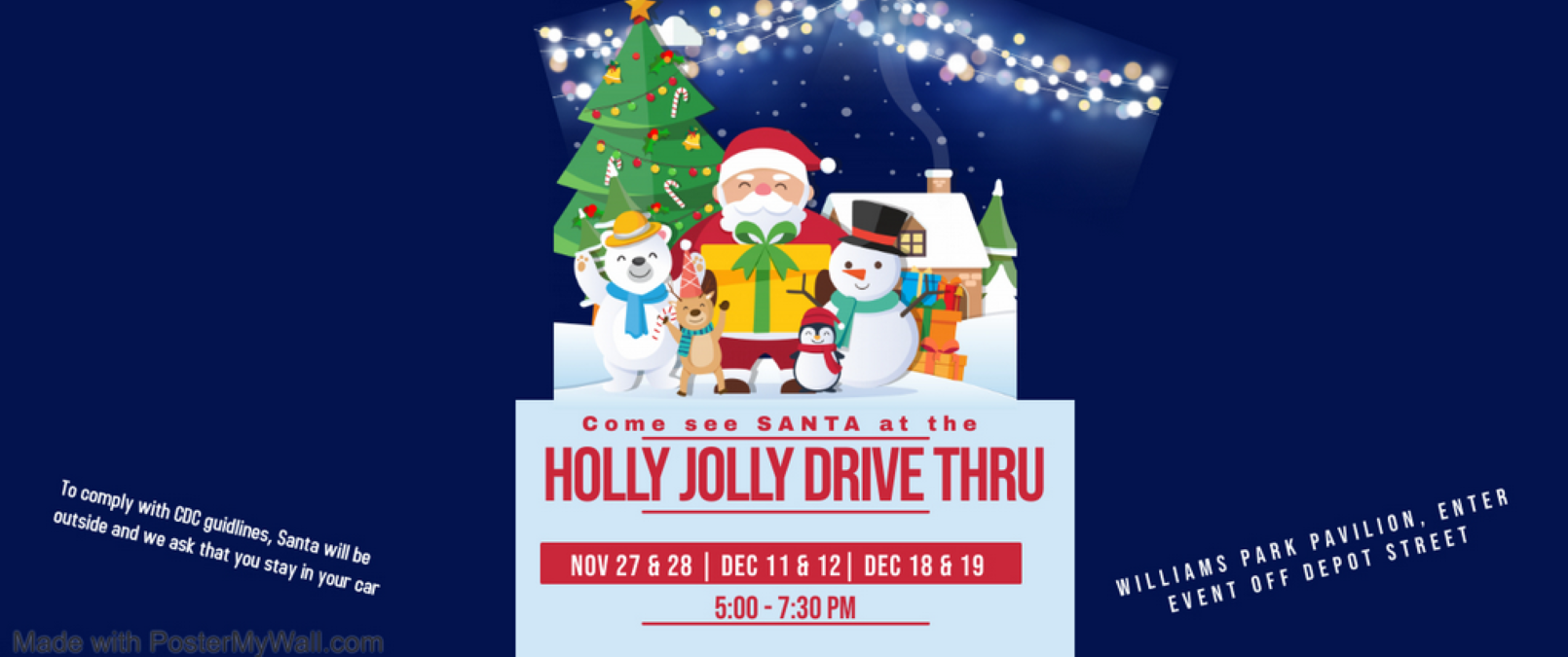 Holly Jolly Drive Thru with Santa in Antioch