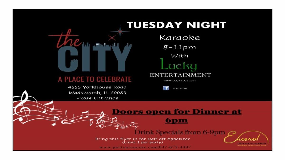 Tuesday Karaoke Night at The City at Encore! Events