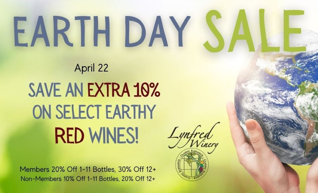 Earth Day Sale at Lynfred Winery, Wheeling