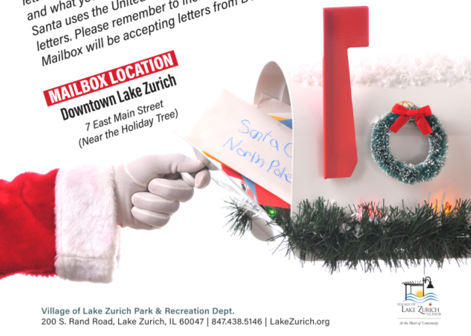 Letters to Santa with Village of Lake Zurich
