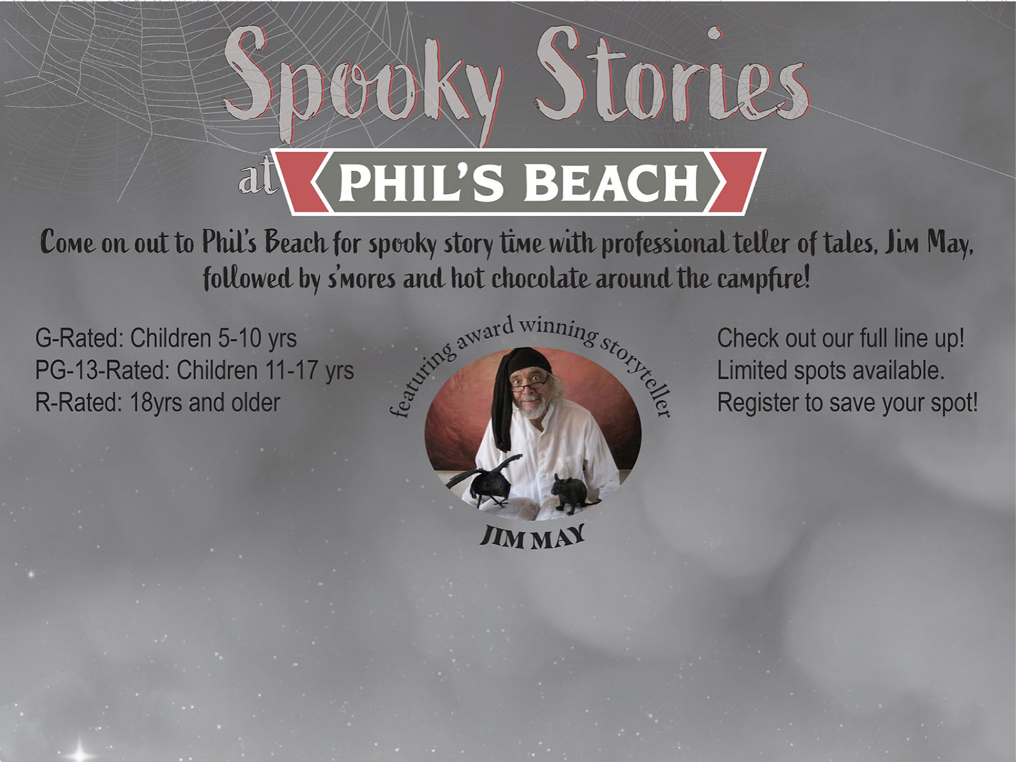 Spooky Stories at Phil's Beach in Wauconda