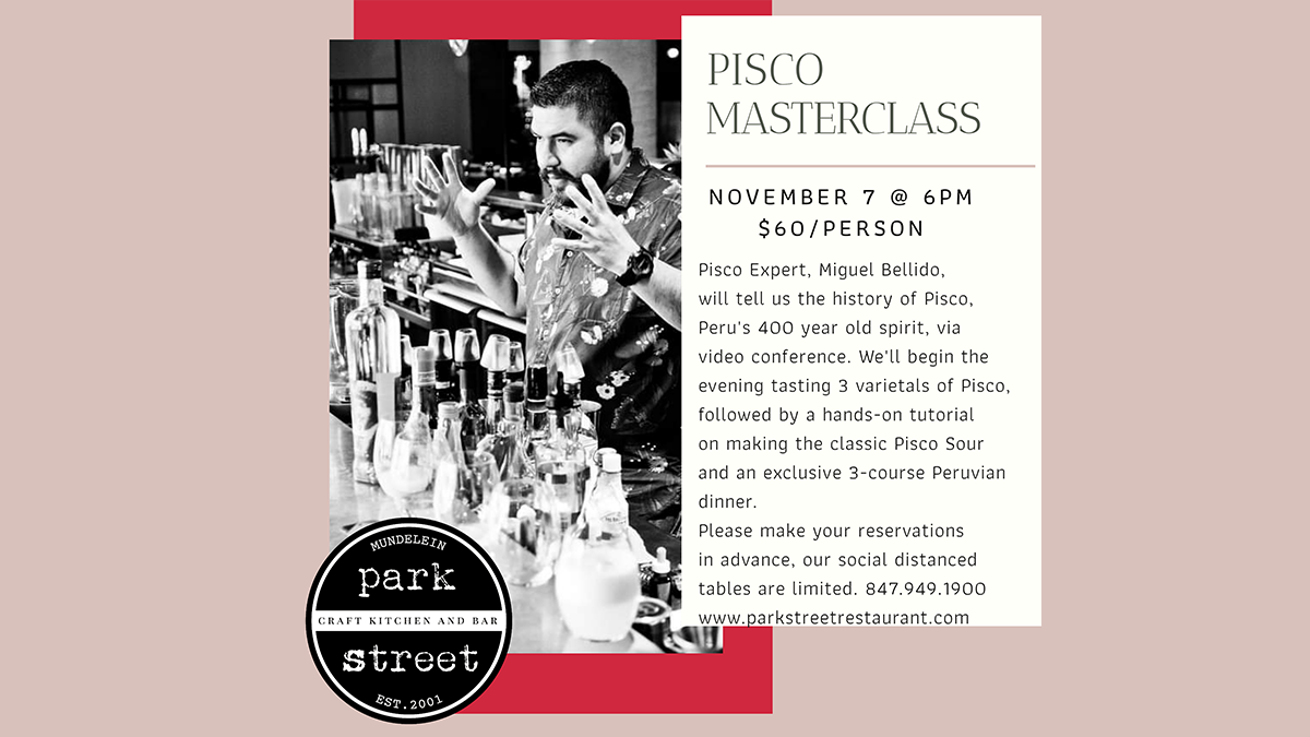 Pisco Masterclass at Park Street Craft Kitchen and Bar